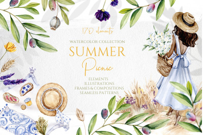 Watercolor Summer Picnic Collection