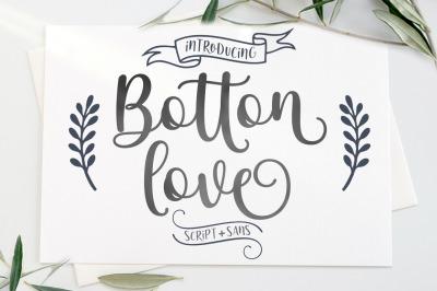 Botton Love Script Font DUO