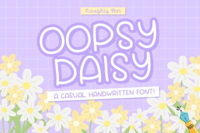 Oopsy Daisy Casual Handwritten Font