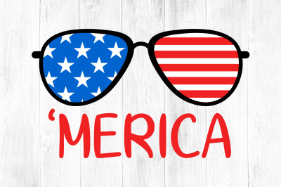 Merica Svg, 4th of July, Patriotic Clipart