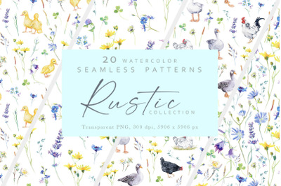 20 Seamless Patterns Collection