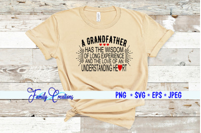 A Grandfather has the long experience and the love of an understanding