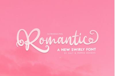 Romantic Script Font (Script Fonts, Romantic Fonts, Love Fonts)