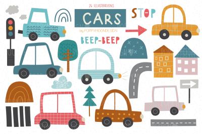 Cars clipart set