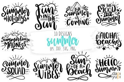 Summer SVG Quotes Bundle