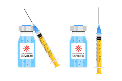 Vaccine and syringe injection