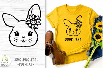 Bunny face svg file for cricut Sunflower svg animals Farm animals svg