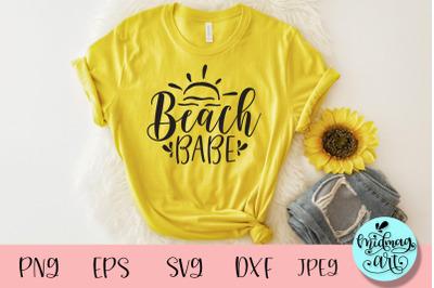 Beach babe svg, summer svg