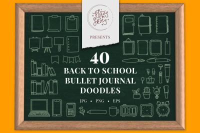 Back To School Bullet Journal Doodles Pack