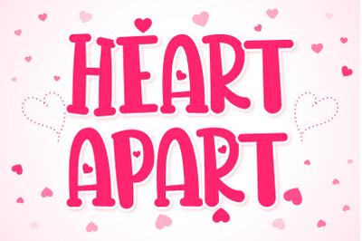 Heart Apart Lovely Font