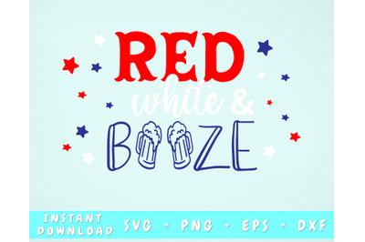 Red White and Booze SVG