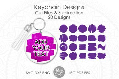 Brush stroke SVG for keychain
