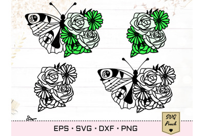 Florals and Butterfly SVG