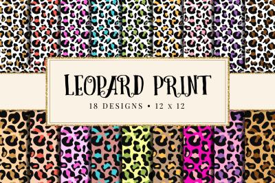 Leopard, Cheetah Print Digital Paper, Animal Print Backgrounds