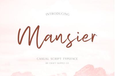 Mansier - Casual Script Typeface