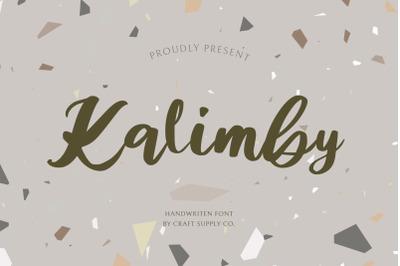 Kalimby - Handwritten Script