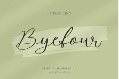 Byefour - Beautiful Script
