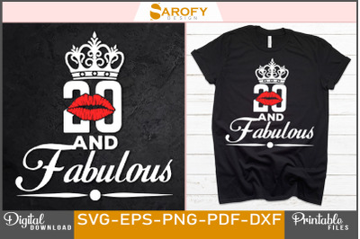 20 and fabulous kissing day design