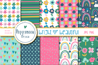 Bright and beautiful paper set