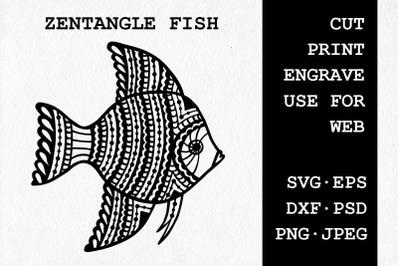Zentangle Fish | SVG DXF EPS PSD PNG JPEG