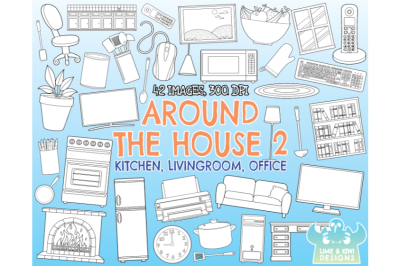 Around the House 2 - Digital Stamps