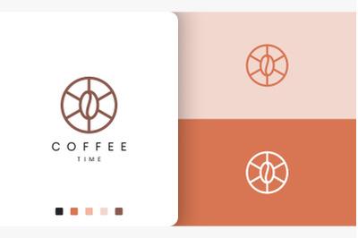 circle coffee logo in simple shape