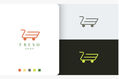 shop or trolley logo template