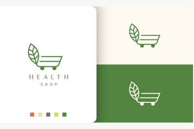 trolley logo for natural organic store