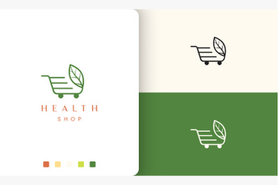 trolley logo for natural or health store