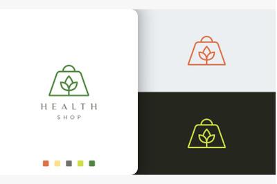 shopping bag logo for natural shop