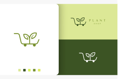 trolley logo for natural or organic shop