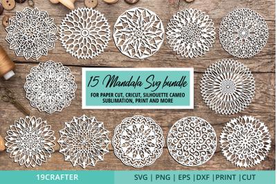 Mandala art SVG bundle for paper cut and sublimation