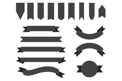 Dark Gray Badge & Banner Clip Art Set