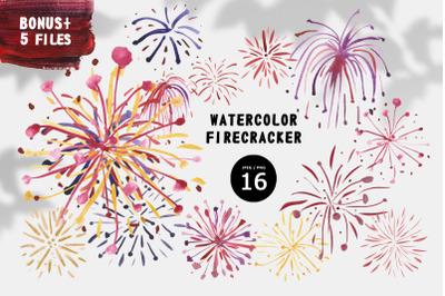 Watercolor Firecracker