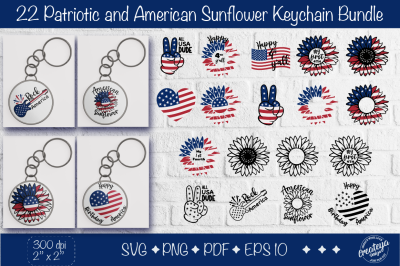 Patriotic Keychain svg bundle Fourth of July keychain, with American s