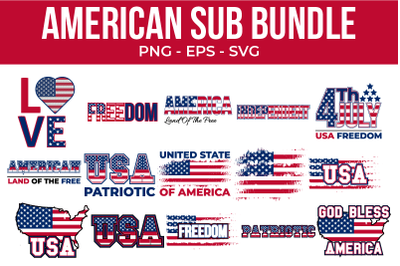 American Sublimation Bundle 4th of July