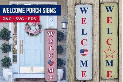 4th of July Welcome Porch Signs Bundle