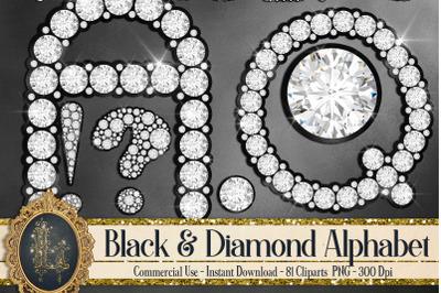 81 Black and Diamond Alphabet Number Symbol Clipart Not Font