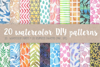 20 Watercolor DIY Patterns