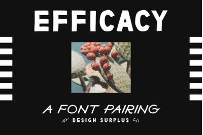 Efficacy Font Pairing + BONUS Logos