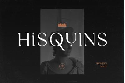 Hisquins - Minimalis & Modern Serif