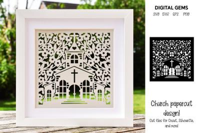 Church paper cut design