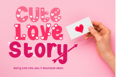 Cute Love Story - Quirky Love Font
