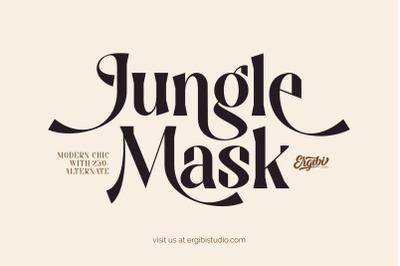 Jungle Mask - Modern Font