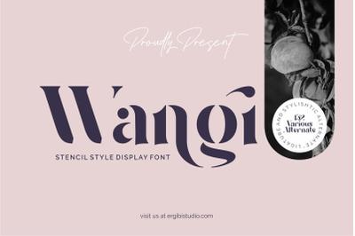 Wangi - Stencil Style