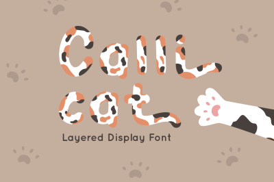 Calli Cat - Layered Display Font