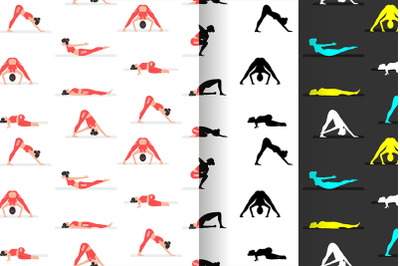 pattern with Yoga Poses