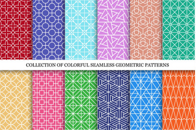 Bright seamless ornamental patterns