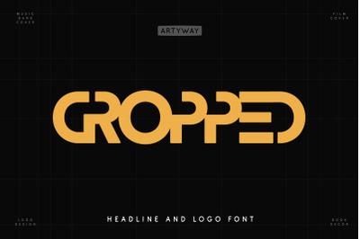 Cropped Logo Font