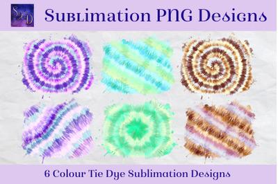Sublimation PNG Designs - Colour Tie Dye Images